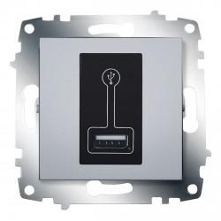 Розетка USB для подзарядки ABB Cosmo алюминий (619-011000-142)
