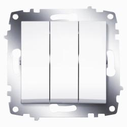 Выключатель 3-кл. ABB Cosmo белый (619-010200-254)