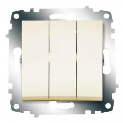 Выключатель 3-кл. ABB Cosmo кремовый (619-010300-254)