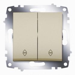 Выключатель 2-кл.прох. ABB Cosmo титан (619-011400-211)