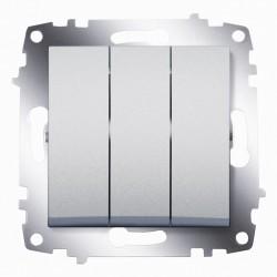 Выключатель 3-кл. ABB Cosmo алюминий (619-011000-254)