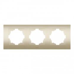 Рамка 3-х кратная ABB Cosmo титан (612-011400-227)