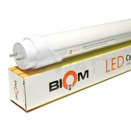 Светодиодная лампа Biom T8-600-10W WW 3500К G13 матовая - купить