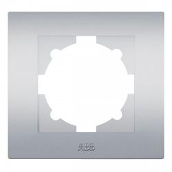 Рамка 1-но кратная ABB Cosmo алюминий (612-011000-271)