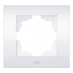 Рамка 1-но кратная ABB Cosmo белая (612-010200-271)
