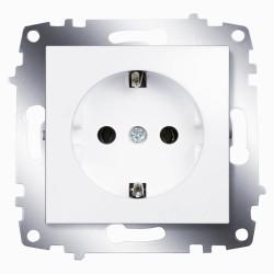 Розетка с заземлением ABB Cosmo белая (619-010200-217)