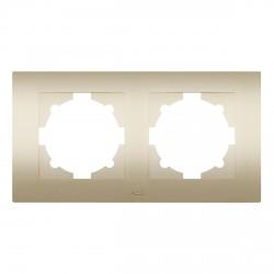Рамка 2-х кратная ABB Cosmo титан (612-011400-226)