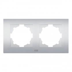 Рамка 2-х кратная ABB Cosmo алюминий (612-011000-226)