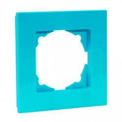 Рамка одинарная Gunsan Eqona бирюзовая (1405100000140)