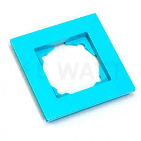 Рамка одинарная Gunsan Eqona бірюзова (1405100000140) - недорого