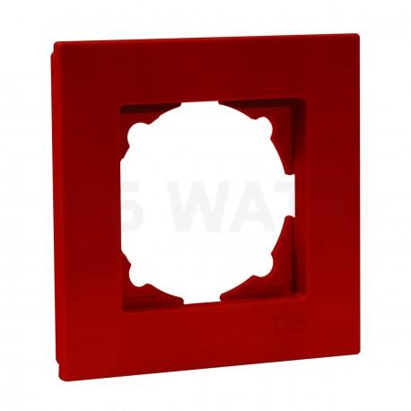 Рамка одинарная Gunsan Eqona вишнева (1405300000140) - придбати