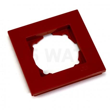 Рамка одинарная Gunsan Eqona вишнева (1405300000140) - недорого