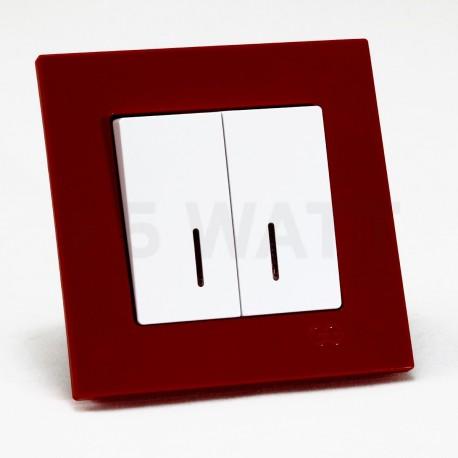 Рамка одинарная Gunsan Eqona вишнёвая (1405300000140) - в интернет-магазине