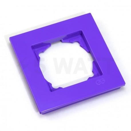 Рамка одинарная Gunsan Eqona лиловая (1404700000140) - недорого