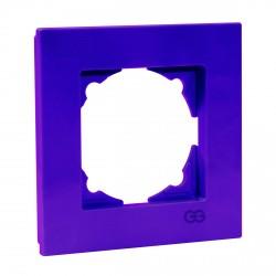 Рамка одинарная Gunsan Eqona лиловая (1404700000140)