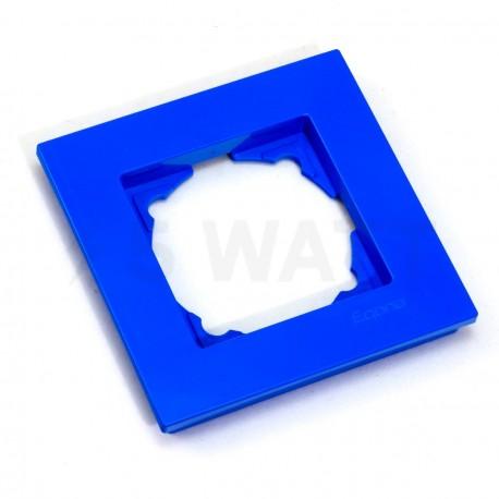 Рамка одинарная Gunsan Eqona голубая (1405000000140) - недорого