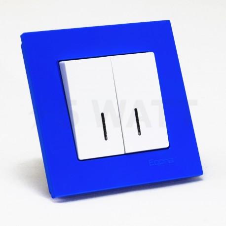Рамка одинарная Gunsan Eqona блакитна (1405000000140) - в інтернет-магазині