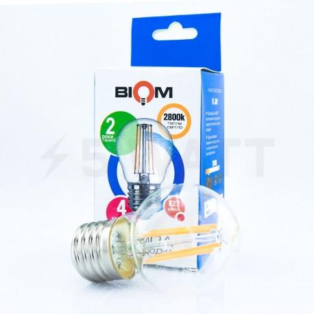 Светодиодная лампа Biom FL-301 G45 4W E27 3000K - в Украине