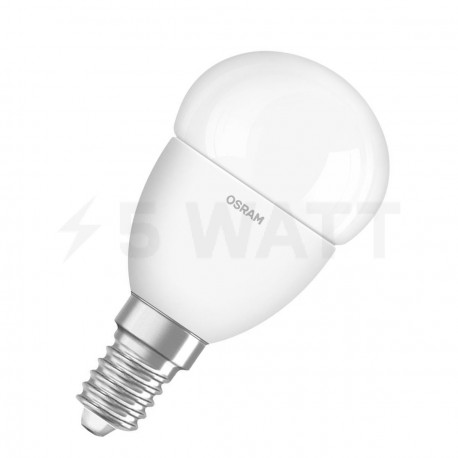 LED лампа OSRAM LED Super Star Classic P40 5W E14 2700K FR DIM 220-240V(4052899900905) - придбати