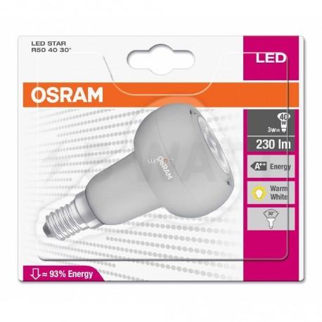 LED лампа OSRAM LED Star R50 3W E14 2700K 220-240V(4052899939912) - недорого
