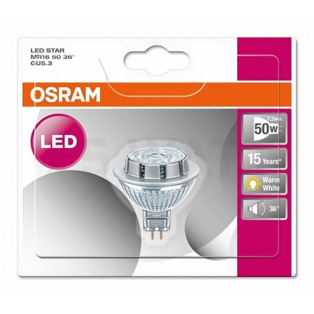 LED лампа OSRAM LED Super Star MR16 7,8W GU5.3 2700K DIM 12V(4052899389991) - в Украине