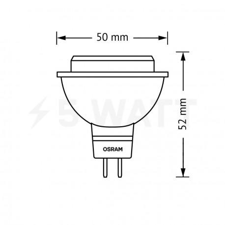 LED лампа OSRAM LED Star MR16 5W GU5.3 2700K 12V(4052899944381) - магазин світлодіодної LED продукції