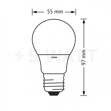 LED лампа OSRAM LED Star Classic A60 6W E27 2700K FR 220-240V (4052899147904) - в Украине