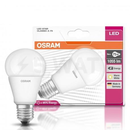 LED лампа OSRAM LED Star Classic A75 9W E27 2700K CL 220-240V (4052899282971) - в Україні