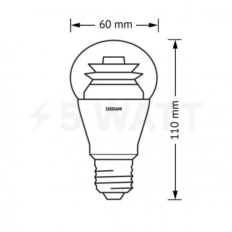 LED лампа OSRAM LED Star Classic A60 10W E27 2700K CL 220-240V (4052899149267) - в Україні