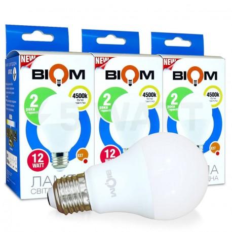 Набор LED ламп BIOM A60 12W 4500K E27 (по 3 шт.)