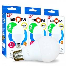 Набор LED ламп BIOM A65 15W 4500K E27 (по 3 шт.)