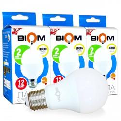 Набор LED ламп BIOM A60 12W 3000K E27 (по 3 шт.)