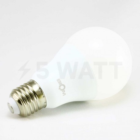 Набор LED ламп BIOM A65 15W 4500K E27 (по 5 шт.) - в Украине