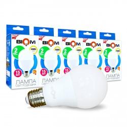 Набор LED ламп BIOM A65 15W 4500K E27 (по 5 шт.)