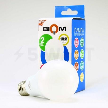 Комплект LED ламп BIOM A65 15W 4500K E27 (по 5 шт.) - магазин світлодіодної LED продукції