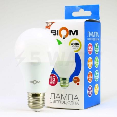 Набор LED ламп BIOM A65 15W 4500K E27 (по 5 шт.) - недорого