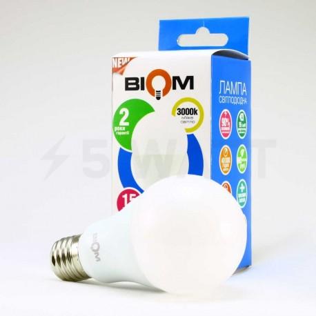 Комплект LED ламп BIOM A65 15W 3000K E27 (по 5 шт.) - недорого