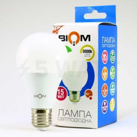 Комплект LED ламп BIOM A65 15W 3000K E27 (по 5 шт.) - в інтернет-магазині
