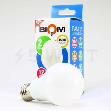 Набор LED ламп BIOM A60 12W 4500K E27 (по 5 шт.) - магазин светодиодной LED продукции