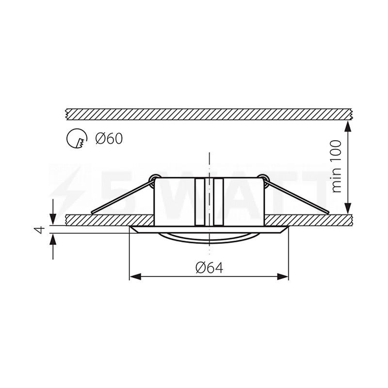 размеры потолочных софитов