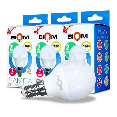 Комплект LED ламп BIOM G45 7W 4500K E14 (по 3 шт.) - придбати