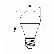 Светодиодная лампа Biom BT-509 A60 10W E27 3000К матовая - в интернет-магазине