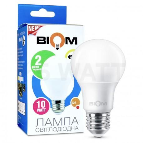 Светодиодная лампа Biom BT-510 A60 10W E27 4500К матовая - купить