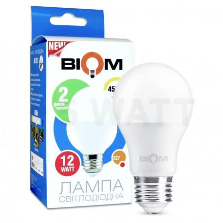 Світлодіодна лампа Biom BT-512 A60 12W E27 4500К матова - придбати