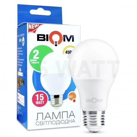 Светодиодная лампа Biom BT-516 A65 15W E27 4500К матовая - купить