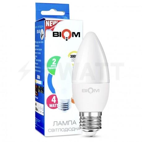 Светодиодная лампа Biom BT-547 C37 4W E27 3000К матовая - купить