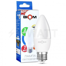 Светодиодная лампа Biom BT-568 C37 6W E27 4500К матовая - купить