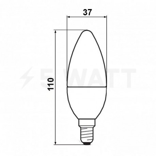 Светодиодная лампа Biom BT-569 C37 6W E14 3000К матовая - в интернет-магазине
