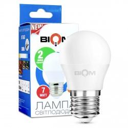 Світлодіодна лампа Biom BT-563 G45 6W E27 3000К матова