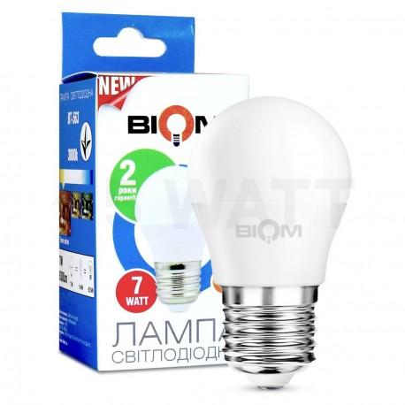 Светодиодная лампа Biom BT-563 G45 6W E27 3000К матовая - купить